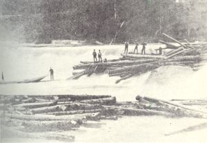 log drive in 1800s